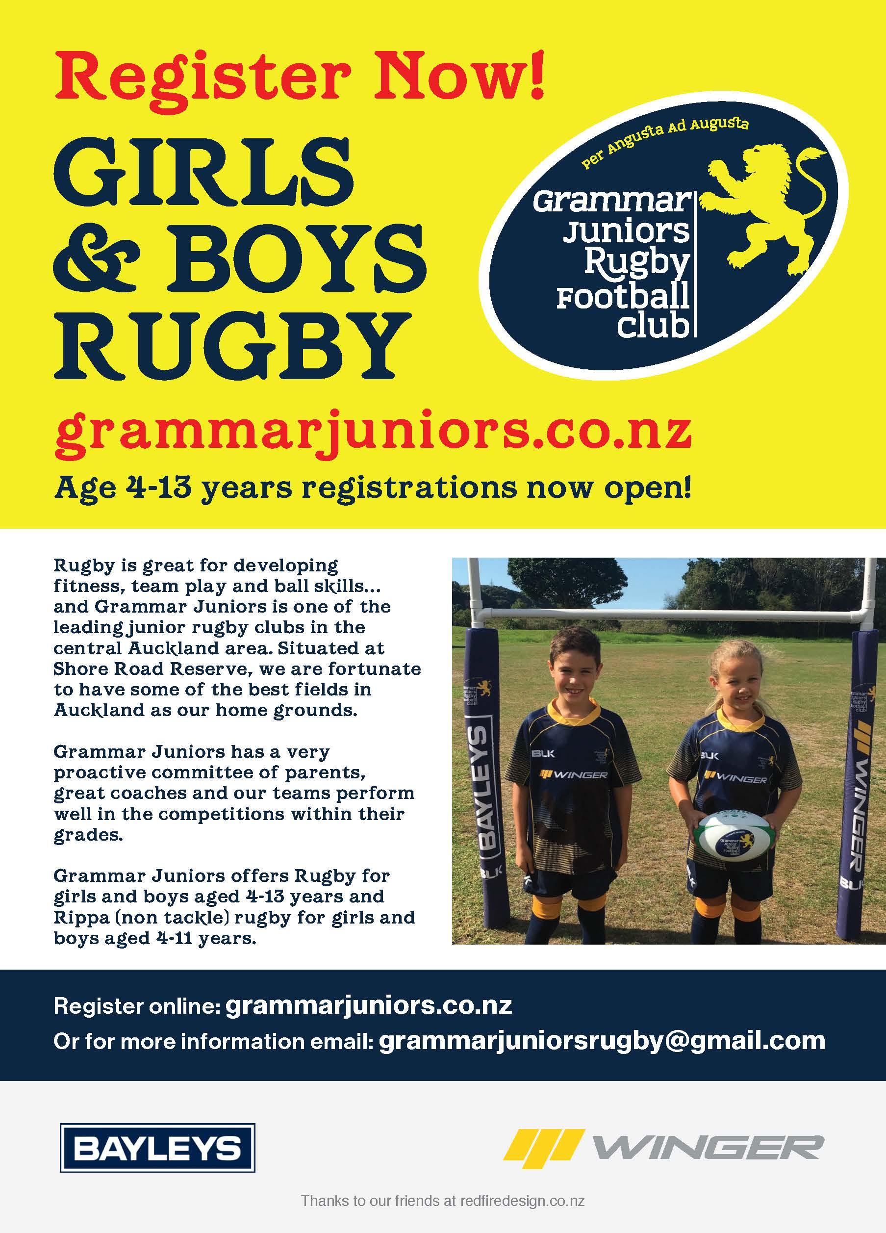 Grammer Junior Rugby