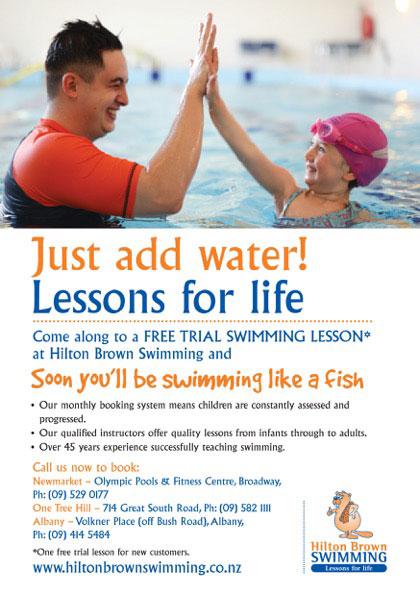 Hilton Brown Swimming