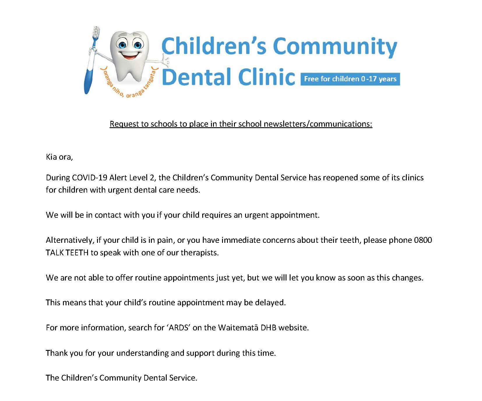 Children's Community Dental Clinic