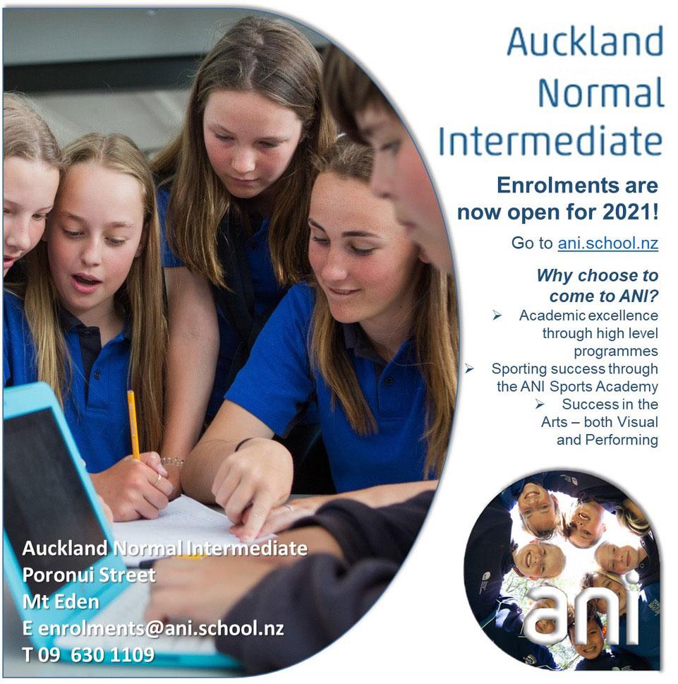 Auckland Normal Intermediate – Enrolments