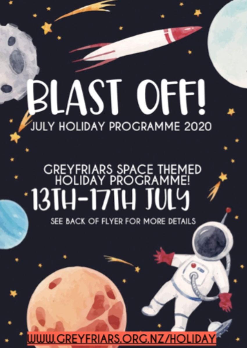 Blast-Off July Holiday Programme – Greyfriars Church