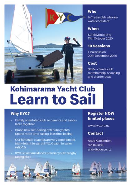 Kohimarama Yacht Club – Learn to Sail – Term 4